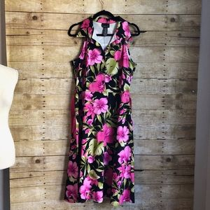 SCARLETT | PLUS SIZE BUTTON DOWN FORAL DRESS SZ 16